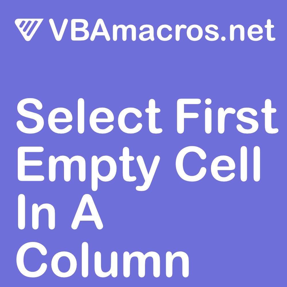 excel-select-first-empty-cell-in-a-column
