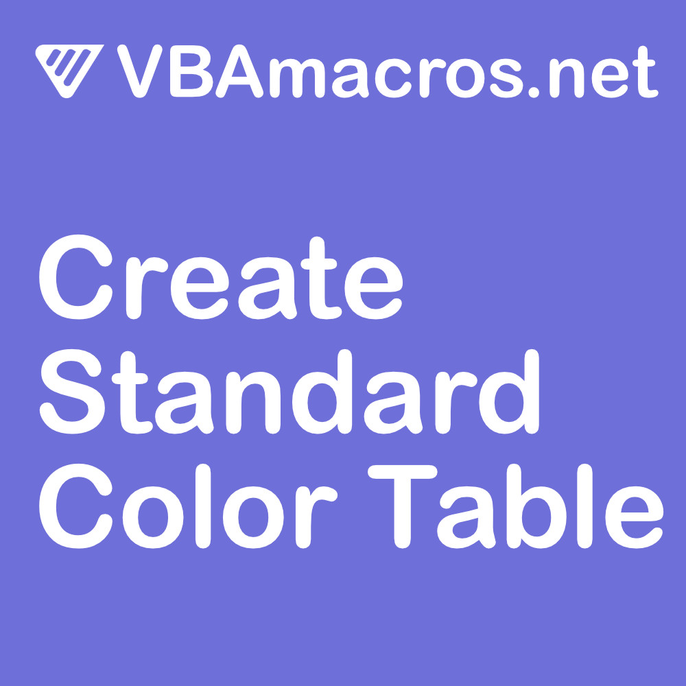 excel-create-standard-color-table