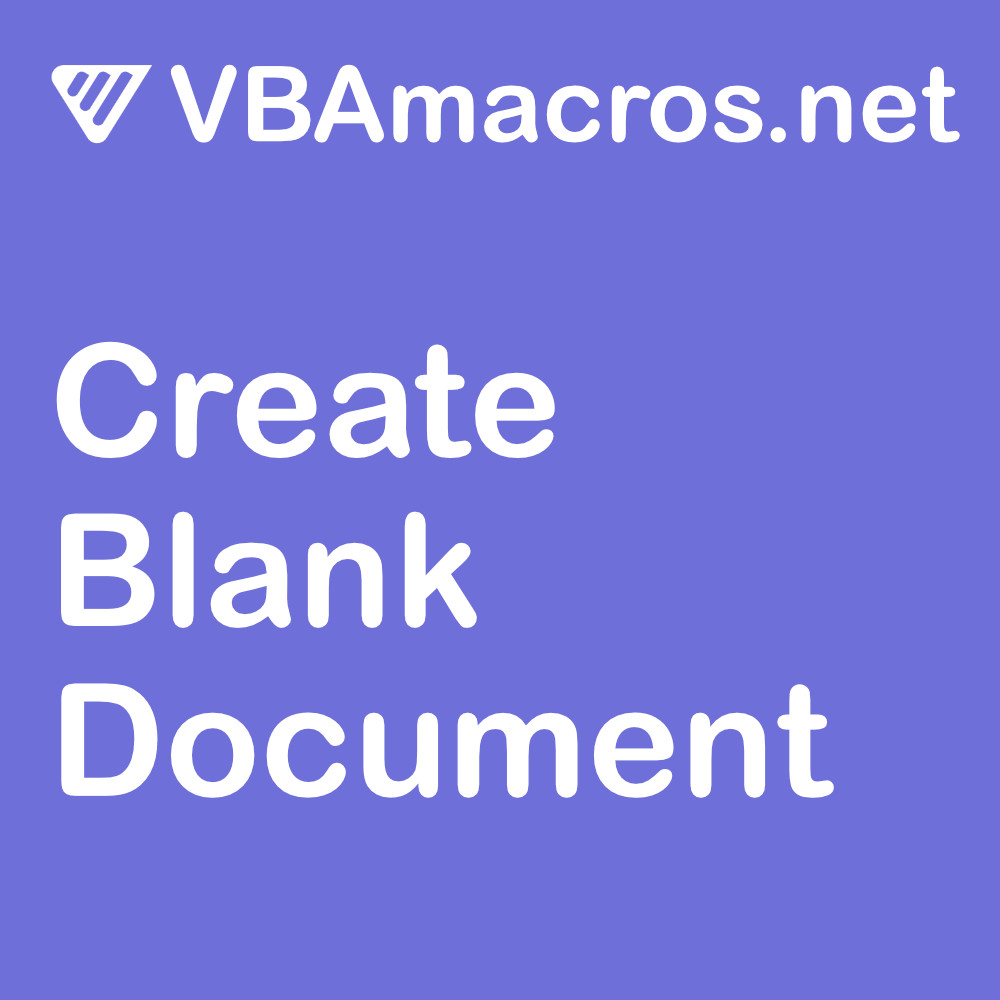 vbscript-create-a-blank-document