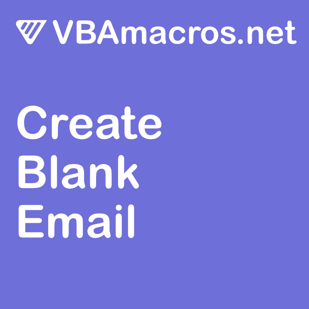 vbscript-create-a-blank-email