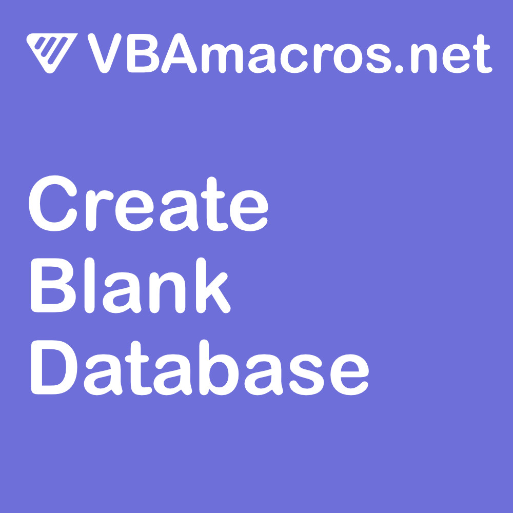 vbscript-create-a-blank-database