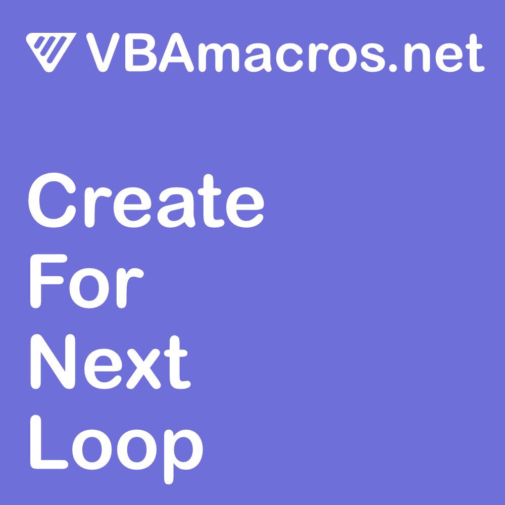 excel-create-for-next-loop
