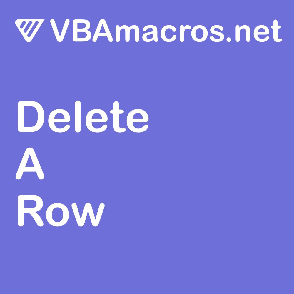 excel-delete-a-row