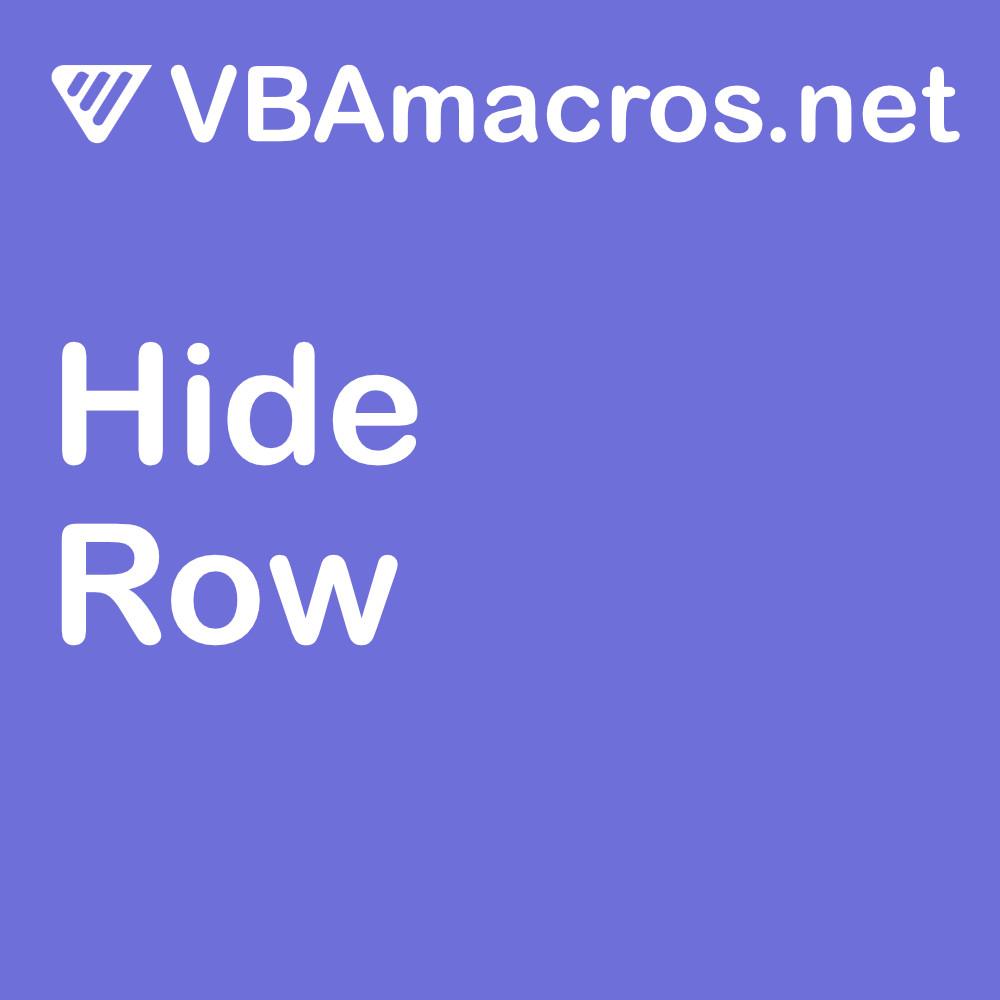 excel-hide-row