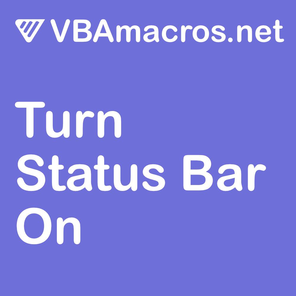 excel-turn-status-bar-on