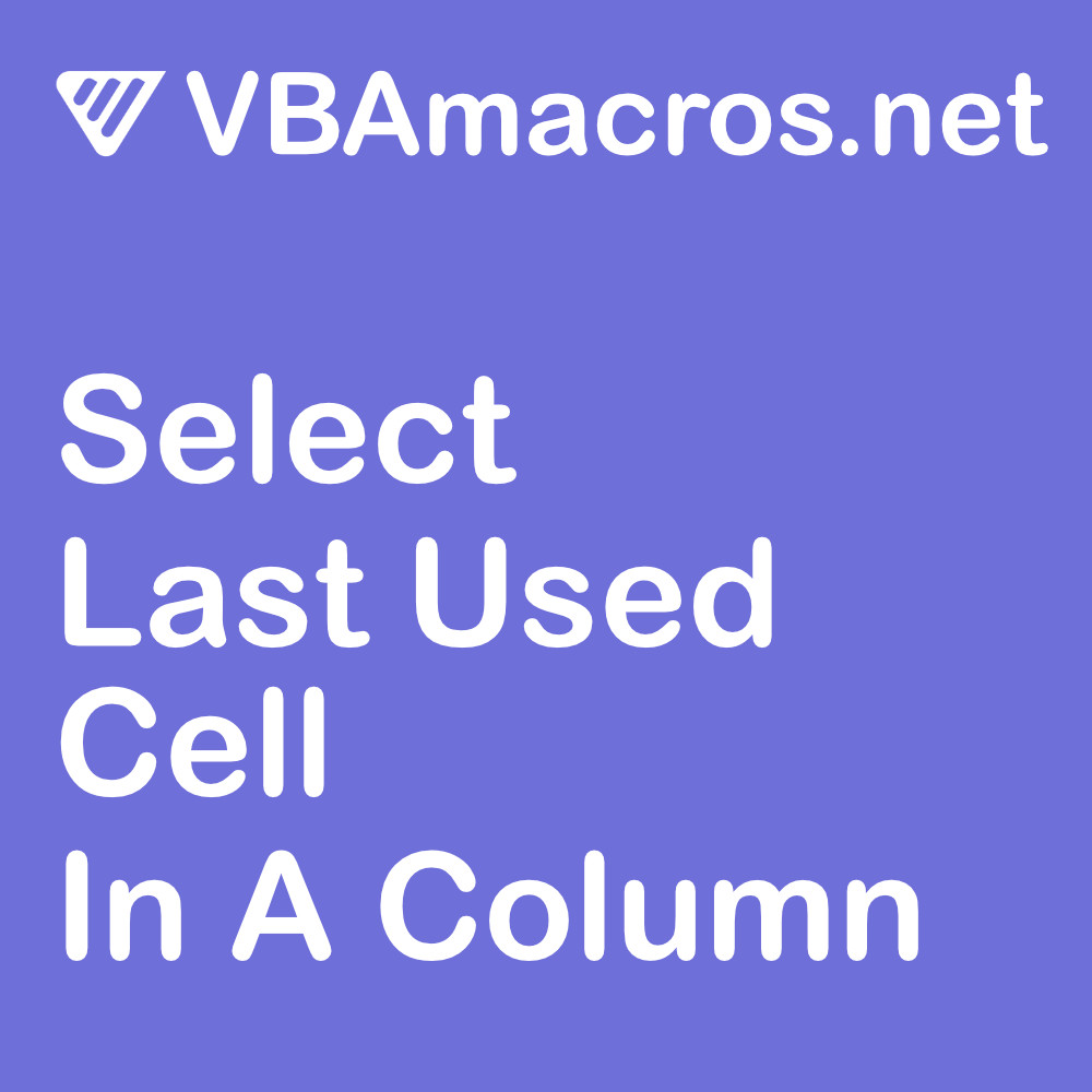 excel-select-last-used-cell-in-a-column
