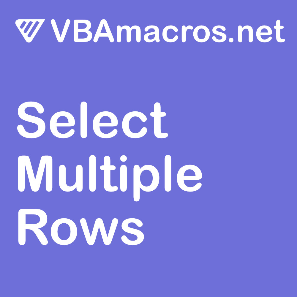 excel-select-multiple-rows