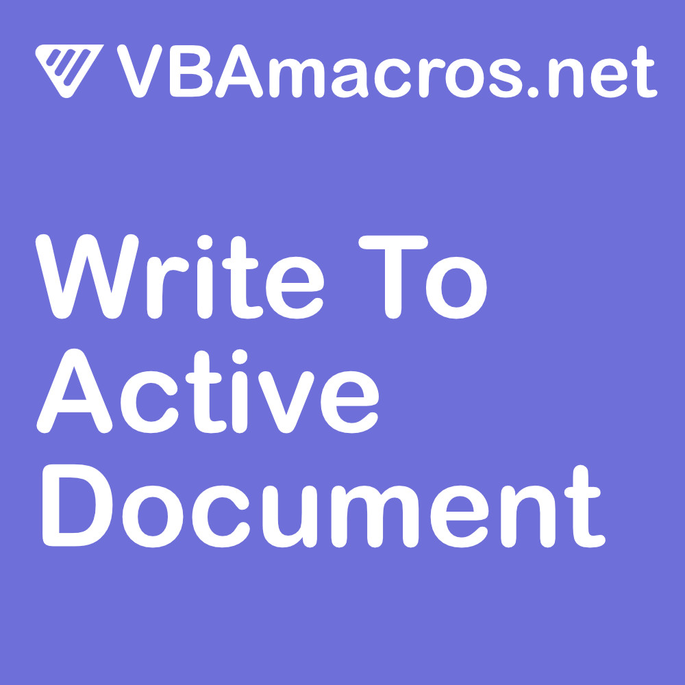 word-write-to-active-document