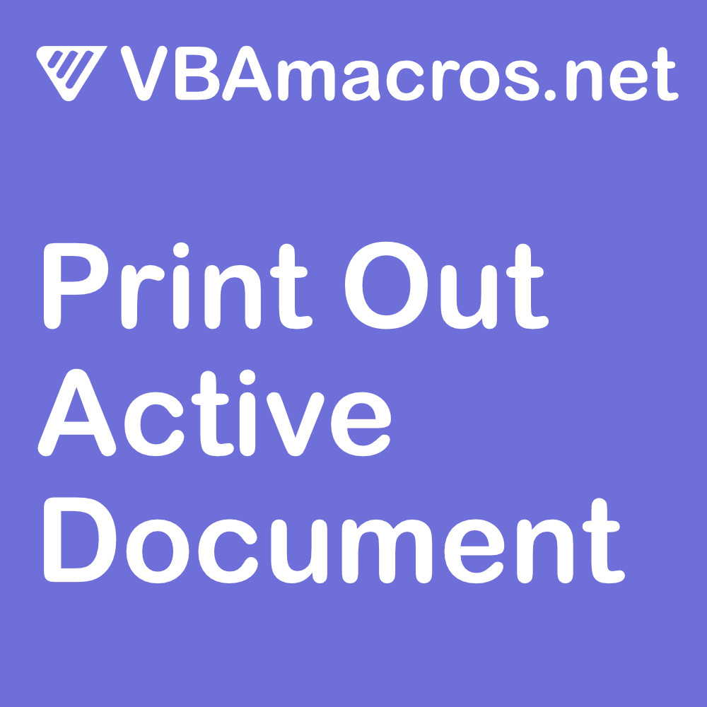 word-print-out-active-document