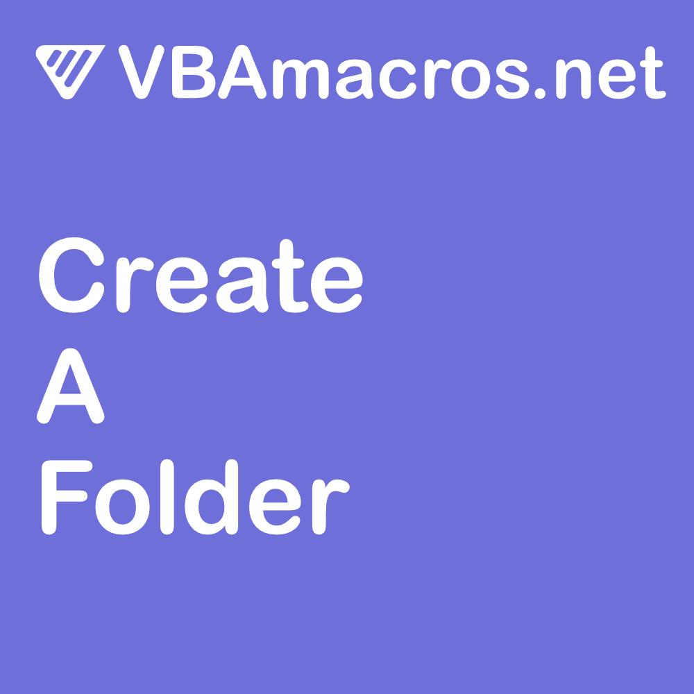 vbscript-create-a-folder